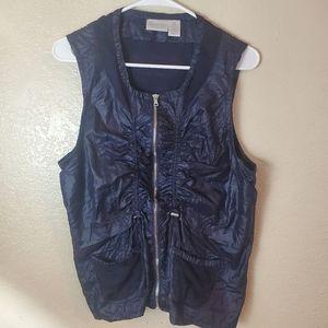 Chico's Zenergy Black Moto Sleeveless Zip Vest